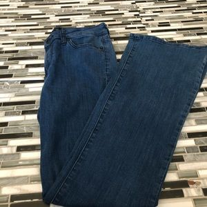 Banana republic dark blue bootcut jeans